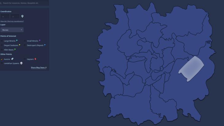 【Subnautica】ブラウザ上で見れる便利なマップの使い方解説